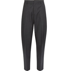 Acne Studios Piano Tapered Pleated Worsted-Wool Trousers