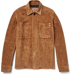 Acne Studios - Amor Eyelet-Detailed Suede Jacket