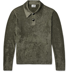 Acne Studios Kristiane Velour Polo Shirt