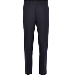 Acne Studios Blue Stan Slim-Fit Herringbone Wool Trousers