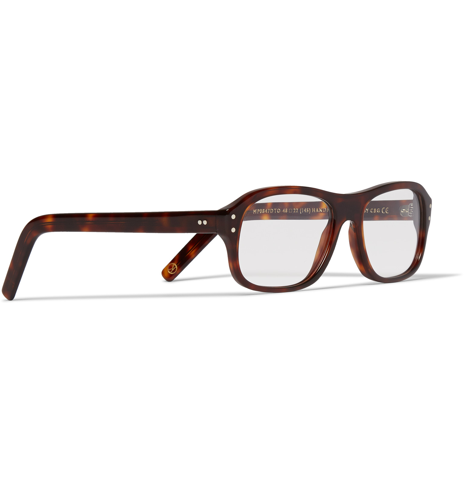 3c819df4004 Kingsman+ Cutler and Gross Square-Frame Tortoiseshell Acetate Optical  Glasses