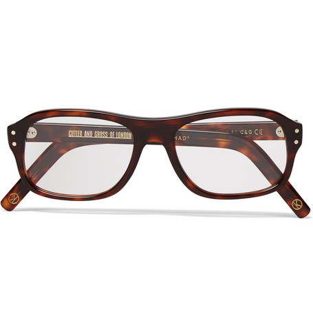 671a3b9c64d Kingsman+ Cutler and Gross Square-Frame Tortoiseshell Acetate Optical  Glasses