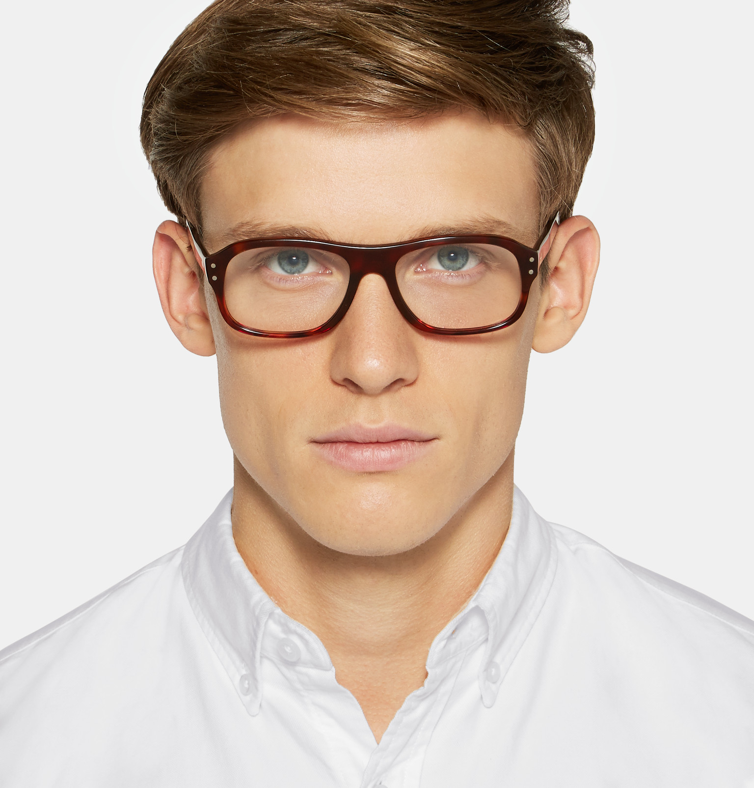 1ae4872e52 Kingsman+ Cutler and Gross Square-Frame Tortoiseshell Acetate Optical  Glasses