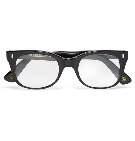 kingsman male kingsman cutler and gross squareframe acetate optical glasses black