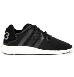 Y-3 Yohji Run Suede-Trimmed Neoprene Sneakers