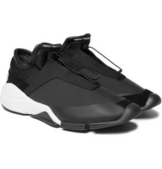 Y-3 - Future Suede and Leather-Trimmed Neoprene Sneakers