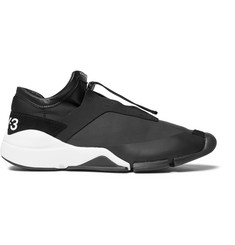 Y-3 Future Suede and Leather-Trimmed Neoprene Sneakers
