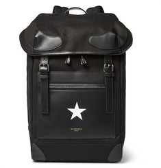 Givenchy Rider Leather-Trimmed Twill Backpack