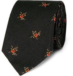 Givenchy Floral-Print Cotton Tie