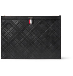Thom Browne Embossed Textured-Leather Pouch