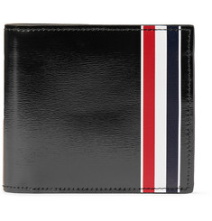 Thom Browne - Striped Patent-Leather Billfold Wallet