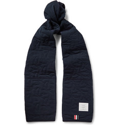 Thom Browne Hector Quilted Cotton-Piqué Scarf