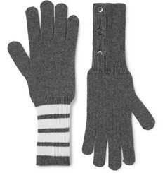 Thom Browne Striped Cashmere Gloves