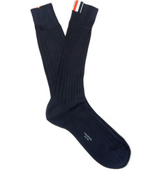 Thom Browne - Ribbed Cotton Socks