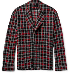 Haider Ackermann Oversized Checked Wool, Cotton and Alpaca-Blend Shirt Jacket