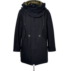 Coach Faux Shearling-Trimmed Cotton-Twill Hooded Parka