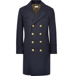 Coach Double-Breasted Melton Wool-Blend Coat