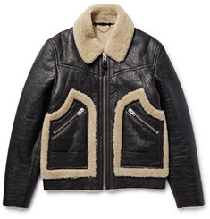 Coach - Stinger Textured-Shearling Jacket