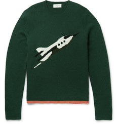 Coach Rocket Ship Intarsia Cashmere Sweater