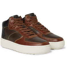 Coach - Patchwork C210 Leather High-Top Sneakers