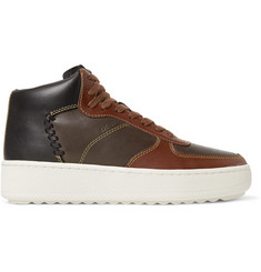 Coach Patchwork C210 Leather High-Top Sneakers