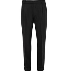 Berluti - Tapered Pleated Wool Trousers