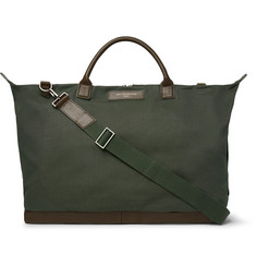 WANT LES ESSENTIELS - Hartsfield Leather-Trimmed Canvas Holdall