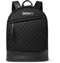 WANT LES ESSENTIELS Kastrup Leather-Trimmed Quilted Shell Backpack