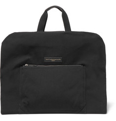WANT LES ESSENTIELS Stansted Canvas and Leather Suit Carrier