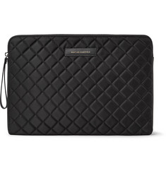 WANT LES ESSENTIELS - Florio Leather-Trimmed Quilted Shell and Mesh Laptop Case
