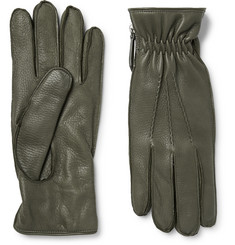 WANT LES ESSENTIELS Chopin Cashmere-Lined Full-Grain Leather Gloves