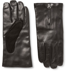 WANT LES ESSENTIELS Mozart Cashmere-Lined Leather and Suede Gloves