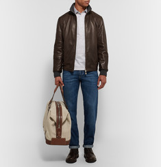 Brunello Cucinelli - Reversible Leather Bomber Jacket