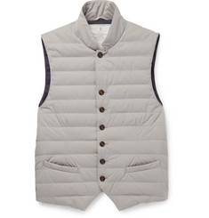Brunello Cucinelli Water-Resistant Shell Down Gilet