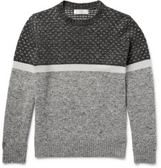 Brunello Cucinelli Mélange Panelled Wool, Cashmere and Silk-Blend Sweater