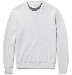 Brunello Cucinelli - Double-Faced Cotton-Blend Jersey Sweatshirt