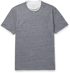 Brunello Cucinelli Double-Layer Cotton-Jersey T-Shirt