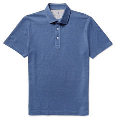 Brunello Cucinelli - Slim-Fit Cotton-Piqué Polo Shirt