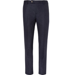 Brunello Cucinelli - Slim-Fit Pinstriped Wool Trousers