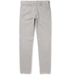 Brunello Cucinelli Slim-Fit Garment-Washed Cotton-Twill Trousers