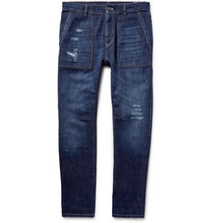 Brunello Cucinelli Slim-Fit Distressed Denim Jeans