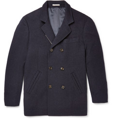 Brunello Cucinelli - Double-Breasted Wool and Cashmere-Blend Peacoat