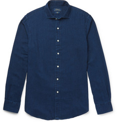 Polo Ralph Lauren Slim-Fit Spread-Collar Garment-Dyed Brushed Cotton-Twill Shirt
