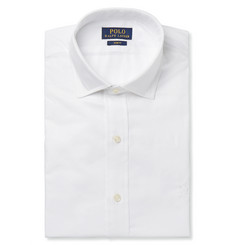 Polo Ralph Lauren White Slim-Fit Cutaway-Collar Cotton Shirt