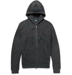 Polo Ralph Lauren Waffle-Knit Merino Wool Zip-Up Hoodie