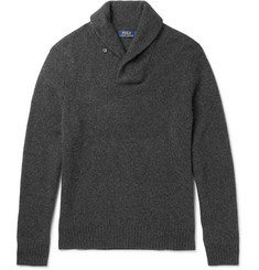 Polo Ralph Lauren Shawl-Collar Wool and Cashmere-Blend Sweater