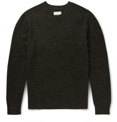 Steven Alan Mélange Wool and Cashmere-Blend Sweater