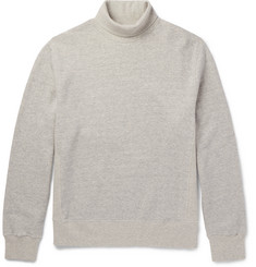 Steven Alan Mélange Fleece-Back Cotton-Jersey Rollneck Sweatshirt