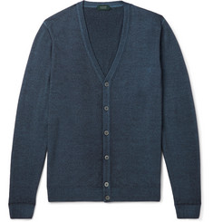 Incotex Garment-Dyed Wool Cardigan