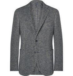 Incotex Unstructured Checked Wool-Blend Blazer